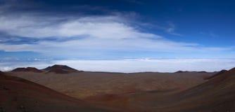 Panarama of Mauna Kea summit Stock Image