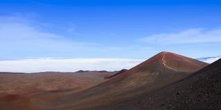 Panarama of Mauna Kea summit Royalty Free Stock Photo