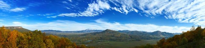 Panarama Of Mountain Valley Stock Photos