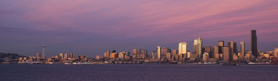 panarama Seattle Photos libres de droits