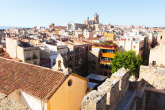 Panarama of Tarragona in with Cathedral Royalty Free Stock Image