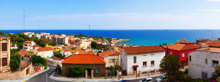 Panarama of Tarragona. In summer day. Catalonia, Spain Stock Image