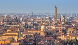 Panarama view Bologna Italy. Panarama view Bologna historical center Stock Image