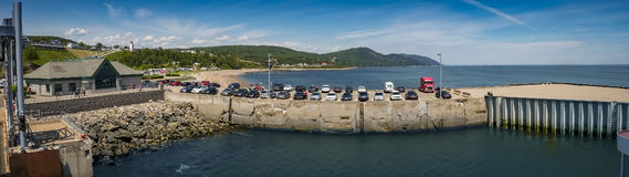 Panorama of wharf at Saint-Siméon Royalty Free Stock Photography