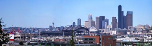 Panarame da baixa de Seattle. fotos de stock