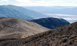 Panaramic视图,沙漠风景,死亡谷 免版税图库摄影
