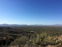 Panaramic-Ansicht während der Wüstenwanderung Lizenzfreies Stockbild
