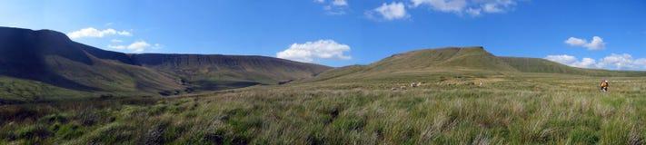 Panaramic berg stock afbeelding