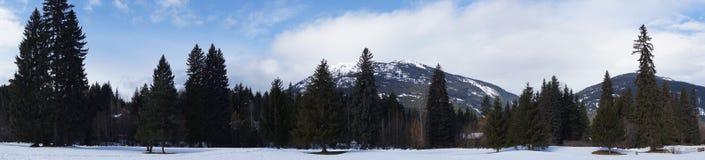 Panaramic View of Mountain Range Royalty Free Stock Photo