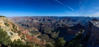 South Rim of Grand Canyon in Arizona. Panaramic view of South Rim of Grand Canyon in Arizona, USA Stock Photo