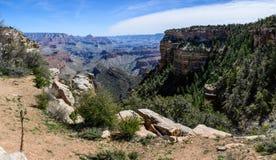 South Rim of Grand Canyon in Arizona. Panaramic view of South Rim of Grand Canyon in Arizona, USA Royalty Free Stock Photos