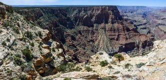 South Rim of Grand Canyon in Arizona. Panaramic view of South Rim of Grand Canyon in Arizona, USA Stock Images