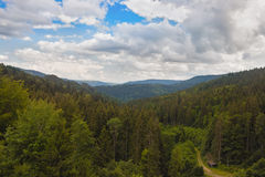 Panaramnym view of the mountains. Of the Black Forest stock image