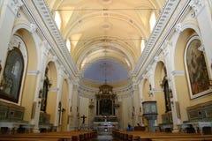 Panarea的圣彼得罗教会 免版税库存图片