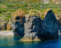 Panarea island coast, Italy. Royalty Free Stock Image