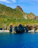 Panarea island coast, Italy. Royalty Free Stock Photography