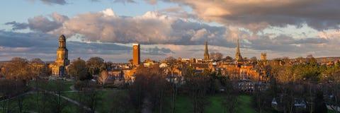 Panaroamic-Ansicht von Shrewsbury stockfotografie