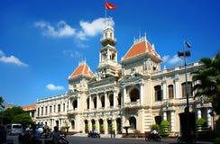 Panaroma abstracto del comité de la gente de la ciudad de Ho Chi Minh imagenes de archivo