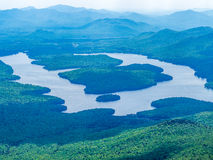 Panaroma of Adirondack Mountains Royalty Free Stock Image