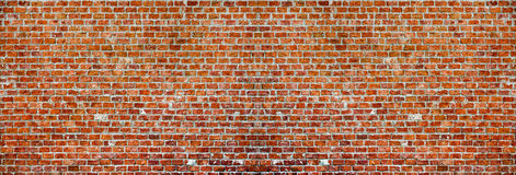 Panaroma Brick Wall.  Stock Photography