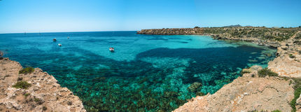 Panaroma da ilha de Favignana Fotos de Stock Royalty Free