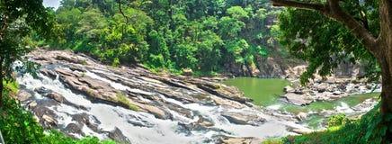 Panaroma de las cascadas Fotografía de archivo libre de regalías