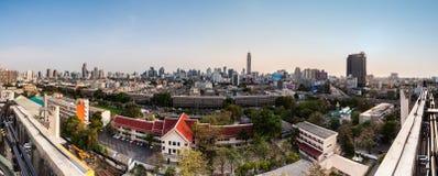 Panaroma di paesaggio urbano, Bangkok Tailandia Fotografia Stock
