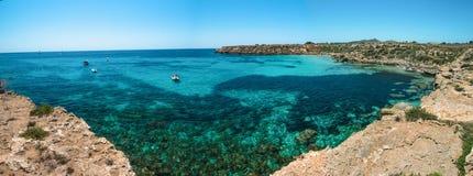 Panaroma från ön av Favignana Royaltyfria Foton