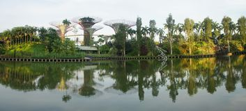 Panaroma of gardens by the bay Royalty Free Stock Photography