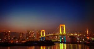 Panaroma of illuminated Tokyo Night lights Concept Stock Photo