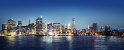 Panaroma Of New York City Royalty Free Stock Photos