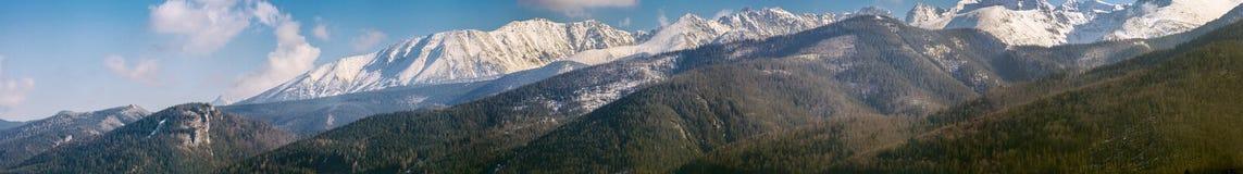 Panaromaic landskap för Tatra berg Arkivbild