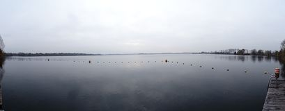 Panaromic-Ansicht von See Ankeveense Plassen stockfotos