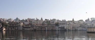 Panaromic-Ansicht von Udaipur-Stadt stockfotos
