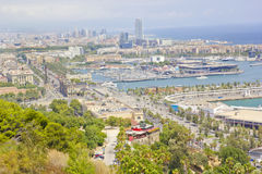 Panaromic scene in Barcelona Royalty Free Stock Photos