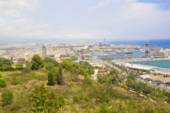 Panaromic scene in Barcelona Stock Photo