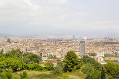 Panaromic scene in Barcelona Stock Image