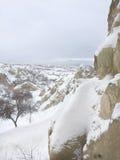 Panaromic Scene in Cappadocia, Turkey Stock Photo