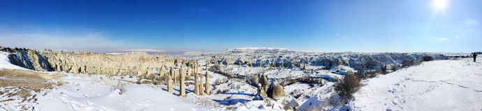 Panaromic Scene in Cappadocia, Turkey Stock Photo
