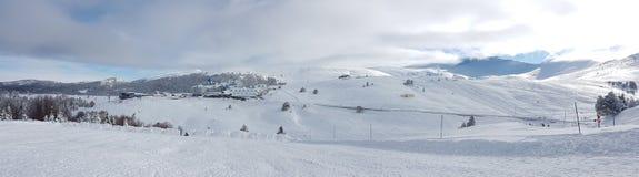 Panaromic scene in Winter and Snow Stock Image