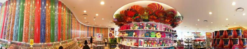 Panaromic View of Candy Shop Stock Photos