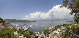 Panaromic View of Fethiye Stock Images