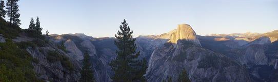 Panaromic view of Half Dome in Yosemite Royalty Free Stock Photos