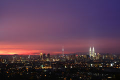 Panaromic view of KL city skyline Royalty Free Stock Photos