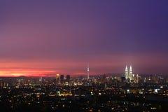 Panaromic view of KL city skyline Royalty Free Stock Photos