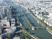Panaromic view of Paris. Shot from Eiffel tower Stock Images