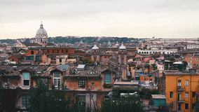 Panaromic View of Rome from top od a building. Panaromic View of Rome from a rainy day stock video