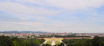 Panaromic View of Schonbrunn Palace Vienna Austria Stock Photography