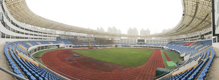 Panaromic view of stadium Stock Photography
