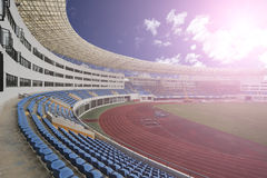 Panaromic view of stadium Royalty Free Stock Photo